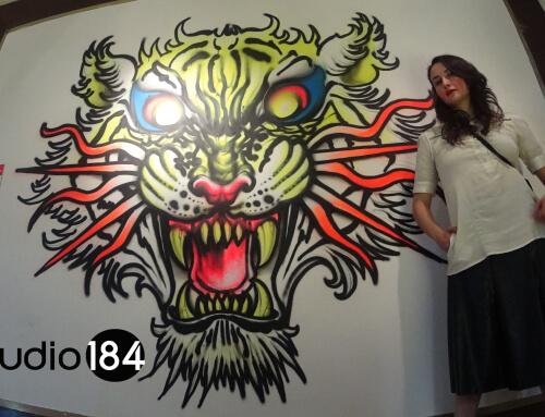 Obra de Rod Monstruo para exposicion el vicio del dibujo